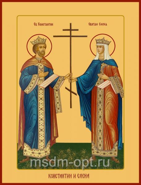 Константин и Елена равноапостольные, икона (арт.04432)