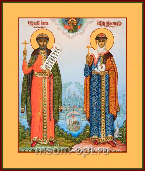 Петр и Феврония благоверные кнн., икона (арт.04433)