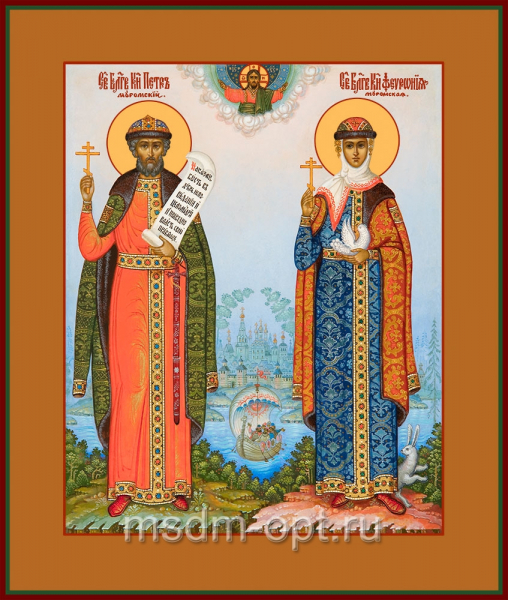 Петр и Феврония благоверные кнн., икона (арт.04433 с-2)