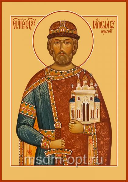 Ярослав I, в крещении Георгий (Юрий), Владимирович, Мудрый, благоверный великий князь Киевский, икона (арт.04436)