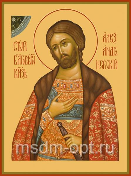 Александр Невский благоверный князь, икона (арт.451)