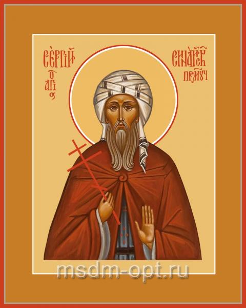 Сергий Синайский преподобномученик, икона (арт.04533 с-2)