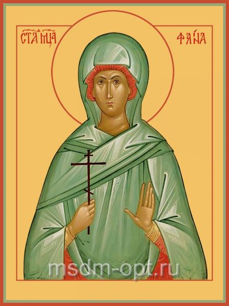 Святая мученица дева Фаина Анкирская (Коринфская), икона (арт.04538)