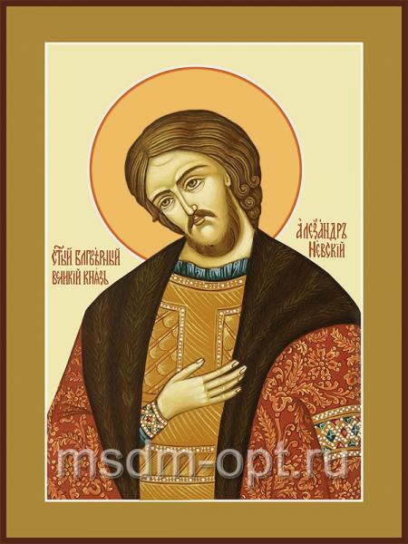 Александр Невский благоверный князь, икона (арт.453)