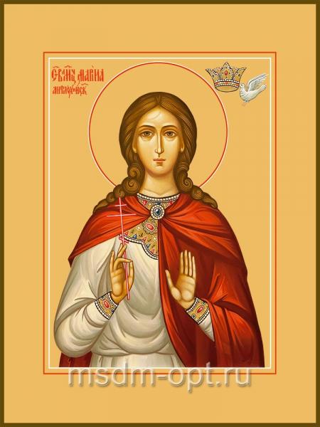 Марина (Маргарита) Антиохийская, великомученица, икона (арт.04542)