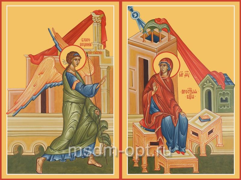 Благовещение Пресвятой Богородицы, иконы на Царские Врата (арт.04614)
