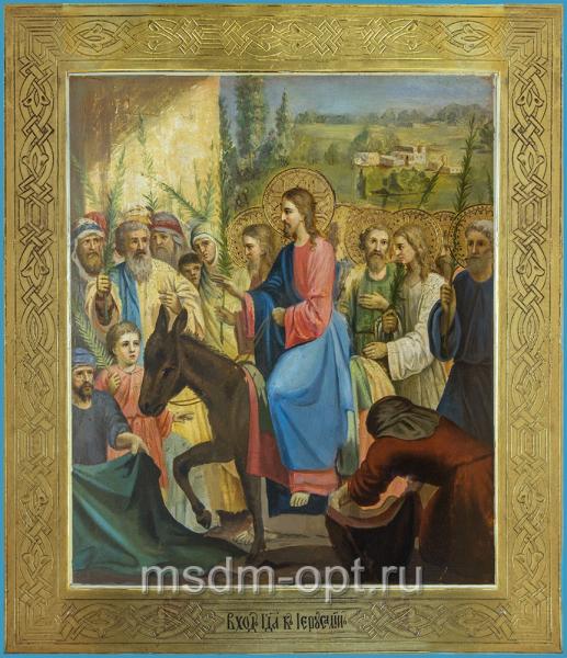 Вход Господень в Иерусалим, икона