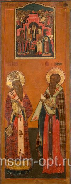 Икона святые Модест Иерусалимский святитель и Власий Севастийский священномученик