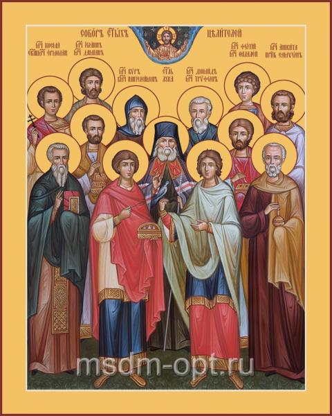 Собор святых целителей, икона