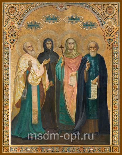 Спиридон Тримифунтский святитель, Пелагия Антиохийская преподобная, Параскева Пятница мученица, Сергий Радонежский преподобный