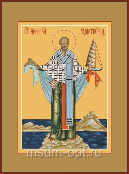 Николай чудотворец, архиепископ Мир Ликийских, святитель, икона (арт.04708 с-2)