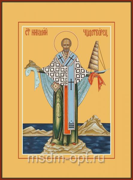 Николай чудотворец, архиепископ Мир Ликийских, святитель, икона (арт.04708)
