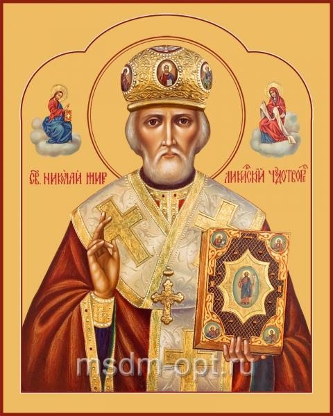 Николай чудотворец, архиепископ Мир Ликийских, святитель, икона (арт.04709)