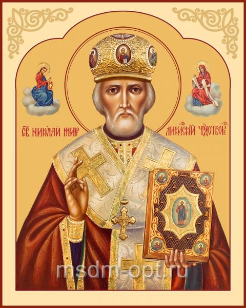 Николай чудотворец, архиепископ Мир Ликийских, святитель, икона (арт.04709 с-2)