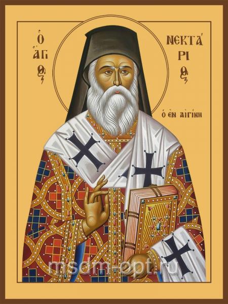 Нектарий Эгинский святитель, икона (арт.04710)