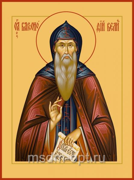 Василий Великий святитель, икона