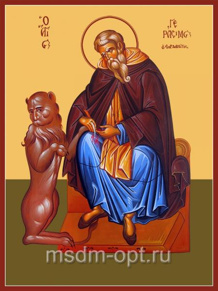 Герасим Иорданский преподобный, икона (арт.04824)