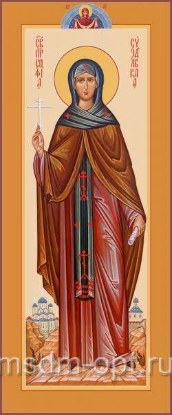 София Суздальская преподобная, икона  (арт.04825 с-2)