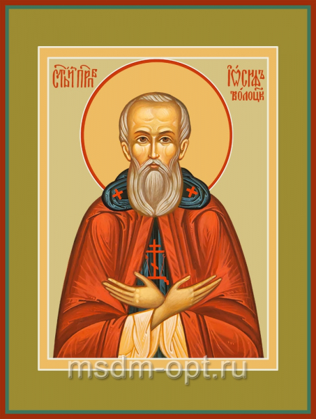 Иосиф Волоцкий преподобный, икона (арт.04829)
