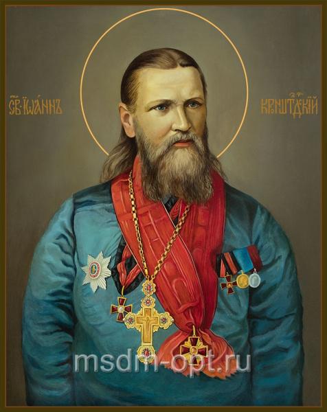 Иоанн Кронштадтский праведный чудотворец, икона (арт.04839 2-с)