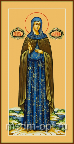 Преподобная Марина Берийская (Македонская), дева, икона (арт.04840)
