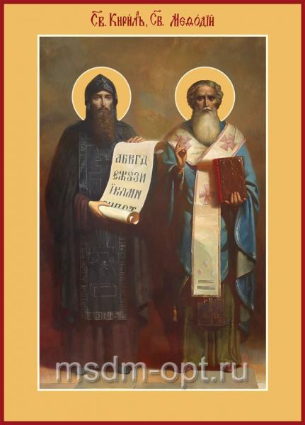 Кирилл и Мефодий равноапостольные, икона (арт.485)