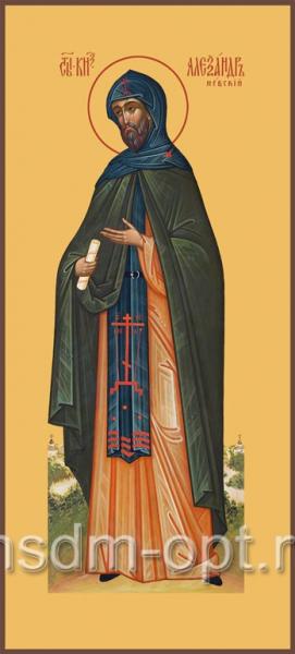 Александр Невский благоверный князь, икона (арт.495)