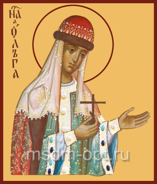 Ольга равноапостольная великая княгиня, икона (арт.496)