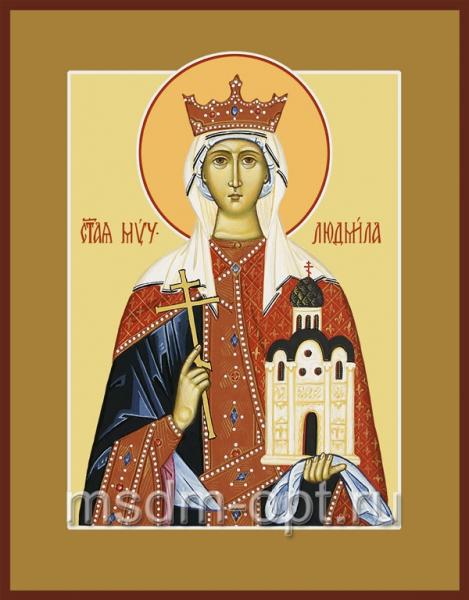 Людмила мученица, княгиня чешская, икона (арт.506)