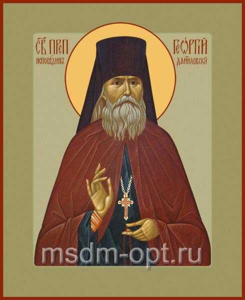 Георгий исповедник Даниловский, преподобный чудотворец, икона