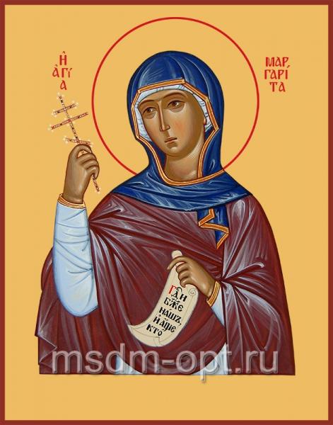 Маргарита Антиохийская великомученица, икона  (арт.00540)