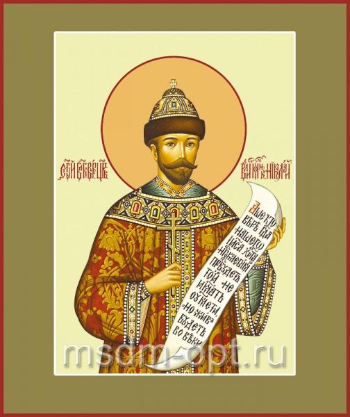 Николай (Романов) II, император, мученик, икона (арт.553)