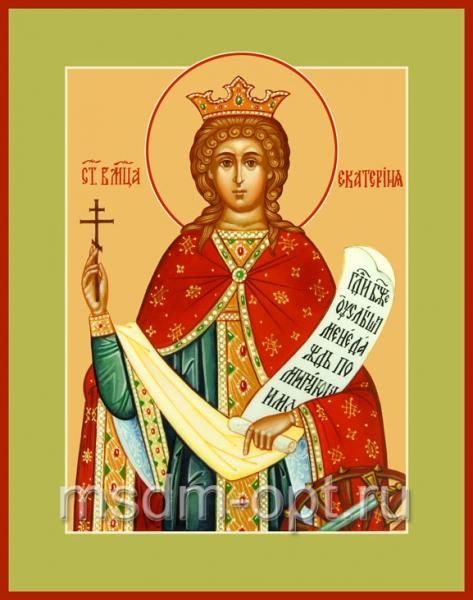 Екатерина великомученица, икона (арт.560)