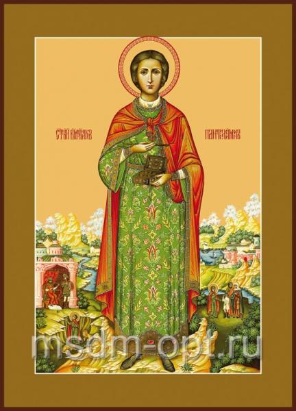 Пантелеимон великомученик и целитель, икона (арт.574)