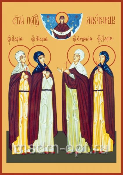 Евдокия, Дария, Дария и Мария пузовские мученицы, икона (арт.588)