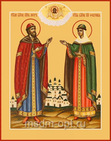 Петр и Феврония благверные кнн., икона