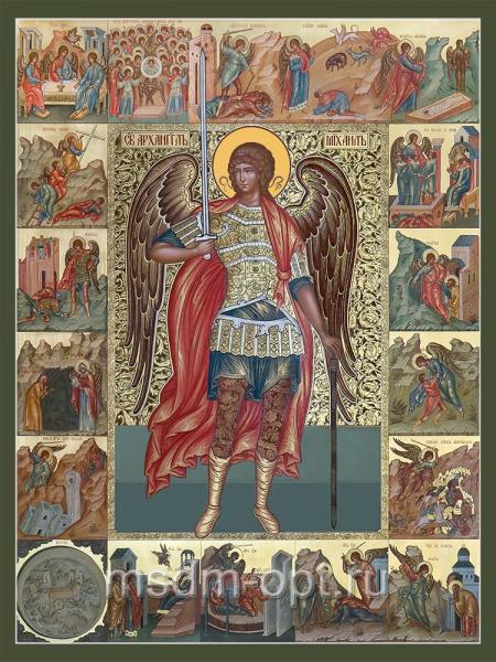 Михаил архангел икона с клеймами