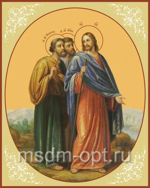 Христос и апостолы на пути в Эммаус, икона (арт.621)