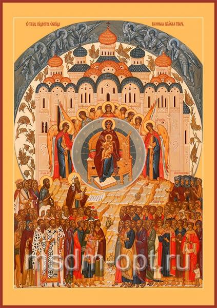 Похвала Пресвятой Богородицы икона Божией Матери