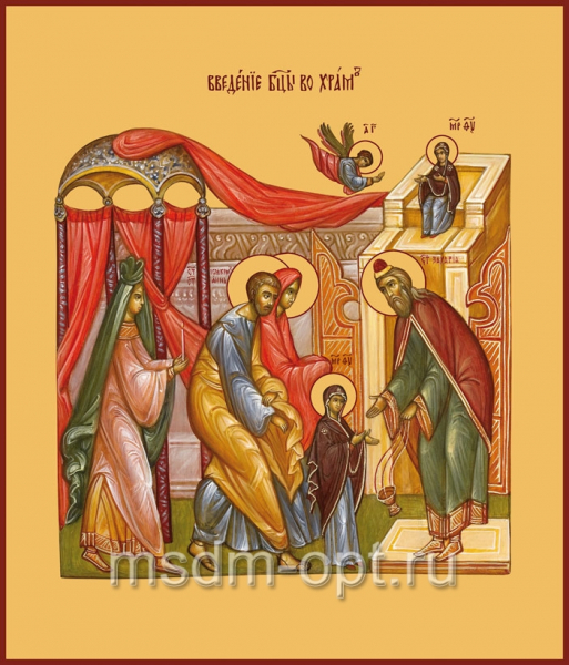 Введение во храм Пресвятой Богородицы, икона (арт.635)