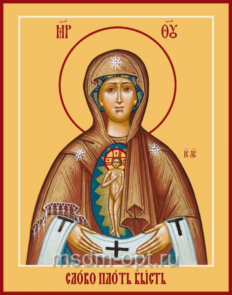 Слово плоть бысть икона Божией Матери