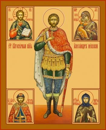 Александр Невский благоверный князь, икона (арт.6401)