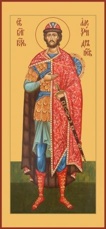 Александр Невский благоверный князь, икона (арт.6402)