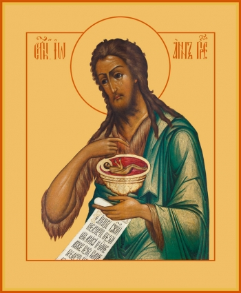 Иоанн Предтеча Креститель Господень, икона (арт.6408)