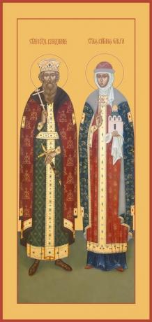 Владимир и Ольга равноапостольные великие князья, икона (арт.6414)