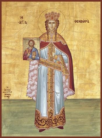 Феодора Цареградская преподобная, икона (арт.6415)