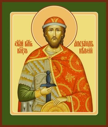 Александр Невский благоверный князь, икона (арт.6418)