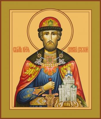 Димитрий Донской благоверый князь, икона (арт.6423)