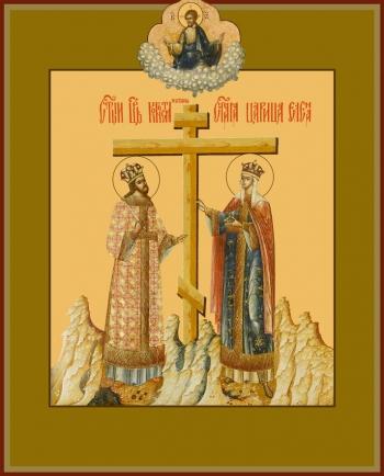 Константин и Елена равноапостольные, икона (арт.6424)