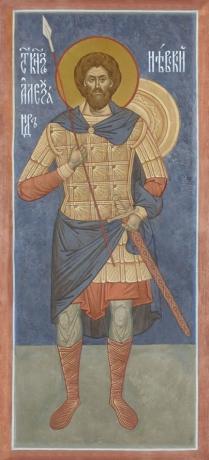 Александр Невский благоверный князь, икона (арт.6441)